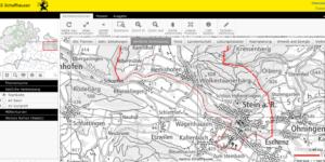 Geographisches Informationssystem des Kantons Schaffhausen (Screenshot der Webseite)